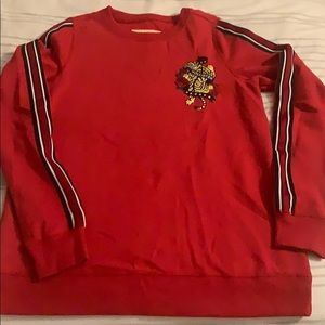 red hollister crew neck sweater